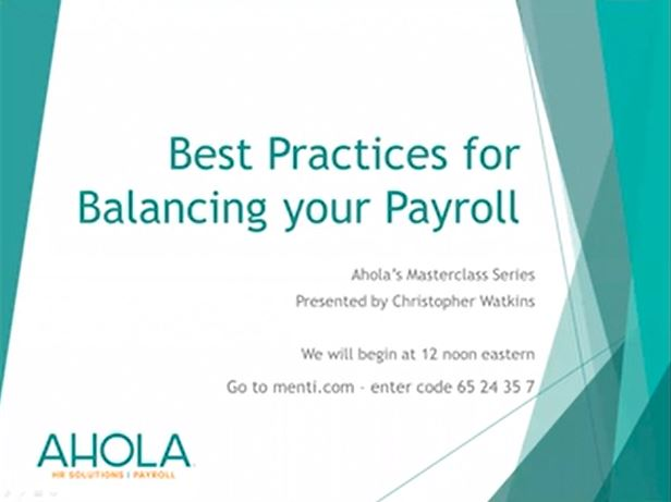 Best Practices for Balancing your Payroll